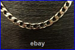 9ct Solid Gold Curb Chain 48 grams 22 3/4 long