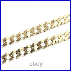 9ct Solid Gold Curb Chain Yellow Gold Hallmarked 13.4g 5mm 20 Inches