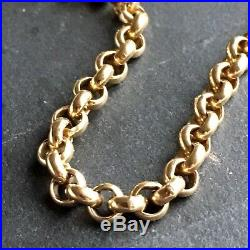 9ct Solid Yellow Gold BELCHER LINK Chain 5mm Necklace 37.17 g Length 20 3/4