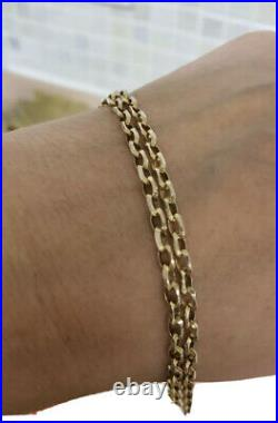 9ct Solid Yellow Gold Belcher Chain Necklace 25 Inches Long Heavy