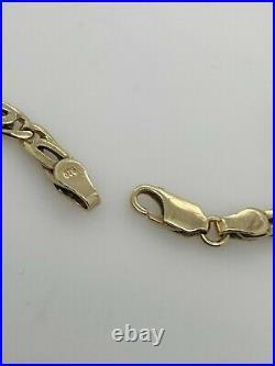 9ct Solid Yellow Gold Birdseye Link Chain 50cm Preloved