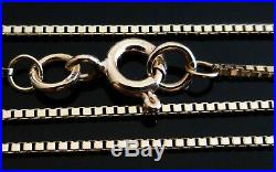 9ct Solid Yellow Gold Box Chain Necklace 55cm's 22 Inches N10