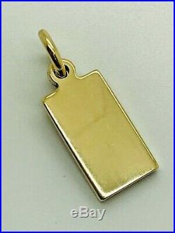9ct Solid Yellow Gold Ingot Pendant