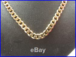 9ct Yellow Gold 20.50 Traditional Heavy Solid Curb Chain 25.8g Vintage Stunning