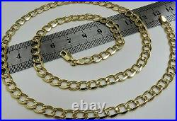 9ct Yellow Gold 20 inch Curb Chain 5mm Width Men's or Ladies