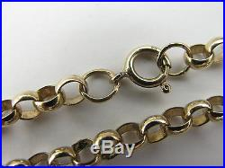 9ct Yellow Gold 24 Traditional Belcher Chain 24g Solid HM Gold Stunning
