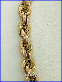 9ct Yellow Gold 6.0mm Long Rope Chain 32