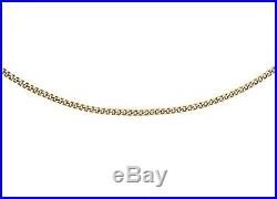9ct Yellow Gold CZ Moving Clown Pendant on 18 Curb Chain Inc Luxury Gift Box