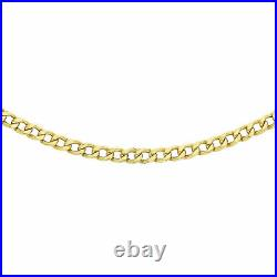 9ct Yellow Gold Curb Chain Necklace for Women Size 18 with Lobster Clasp Gift