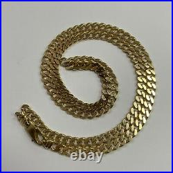 9ct Yellow Gold Curb Link Necklace 21.4g 20 Long