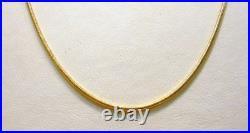 9ct Yellow Gold Fine Round Snake Chain 1mm Fully Hallmarked