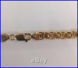 9ct Yellow Gold Flat Byzantine Chain Solid 20 56.7g Fully Hallmarked