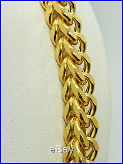 9ct Yellow Gold Franco Style Chain 27 ½
