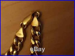 9ct Yellow Gold Men/ Women Heavy Wide Figaro Chain 20
