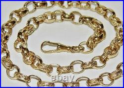 9ct Yellow Gold On Silver 20 Inch Oval Link Solid Belcher Chain