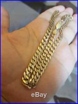 9ct Yellow Gold Women/mens Heavy Curb Chain 23g Not Scrap