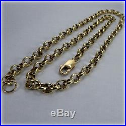 9ct Yellow Gold solid Link 24 Belcher Chain