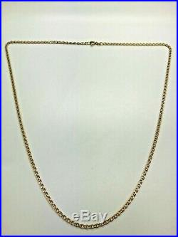 9ct Yellow Solid Gold Anchor Style Chain 22