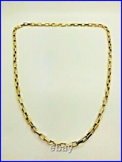 9ct Yellow Solid Gold Box Style Chain 18