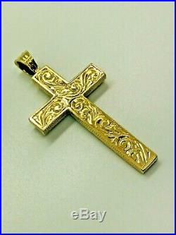 9ct Yellow Solid Gold Cross Pendant