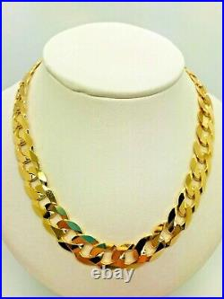 9ct Yellow Solid Gold Curb Chain 10.4mm 22 CHEAPEST ON EBAY
