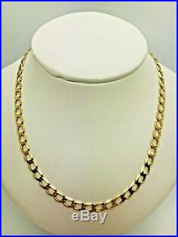 9ct Yellow Solid Gold Curb Chain 19 ½
