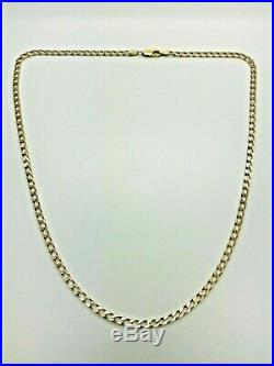 9ct Yellow Solid Gold Curb Chain 19