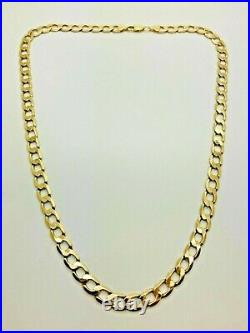 9ct Yellow Solid Gold Curb Chain 21