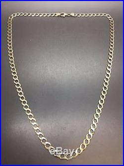 9ct Yellow Solid Gold Curb Chain 23