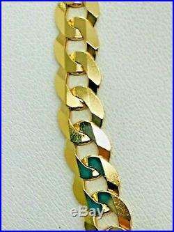 9ct Yellow Solid Gold Curb Chain 24