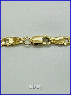 9ct Yellow Solid Gold Curb Chain 3.4mm 18 CHEAPEST ON EBAY