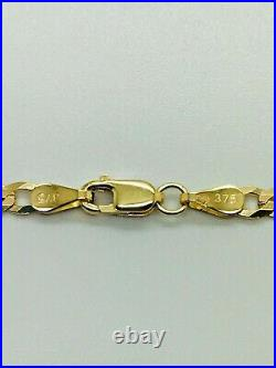 9ct Yellow Solid Gold Curb Chain 3.4mm 24 CHEAPEST ON EBAY