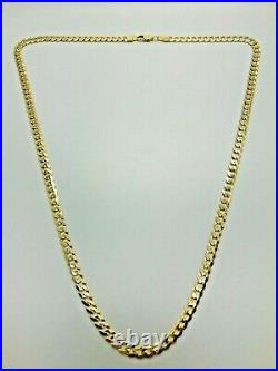 9ct Yellow Solid Gold Curb Chain 4.4mm 22 CHEAPEST ON EBAY