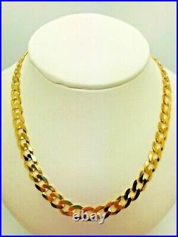 9ct Yellow Solid Gold Curb Chain 6.6mm 24 CHEAPEST ON EBAY