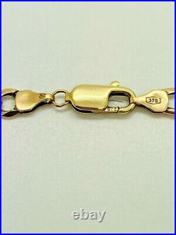 9ct Yellow Solid Gold Figaro Chain 21