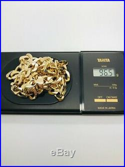 9ct Yellow Solid Gold Heavy Curb Chain 24