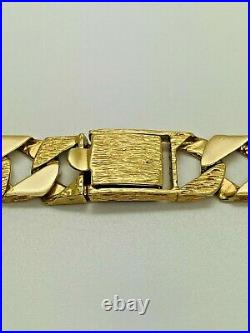 9ct Yellow Solid Gold Heavy Square Curb Chain 22 ½