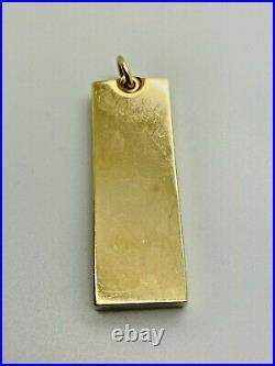 9ct Yellow Solid Gold Ingot Pendant