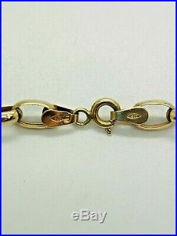 9ct Yellow Solid Gold Oval Belcher Chain 20