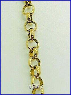 9ct Yellow Solid Gold Round Belcher Chain 22