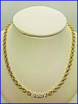 9ct Yellow Solid Gold Round Belcher Chain 4.0mm 22 CHEAPEST ON EBAY