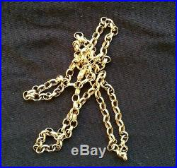 9ct gold 24 belcher necklace heavy 18.9 grams