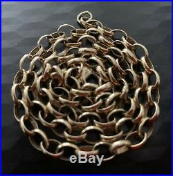 9ct gold Belcher Chain Necklace 21.5g not scrap