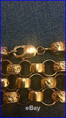 9ct gold Belcher chain 24 approx 3oz valued at £4400.00