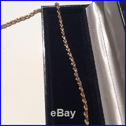 9ct gold Heavy rope chain necklace, 57.5cm long, 23.1 g, vintage, REDUCED