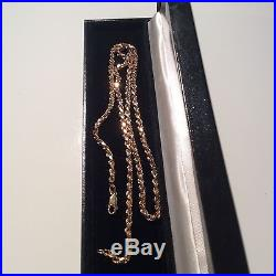 9ct gold Heavy rope chain necklace, 57.5cm long, 23.1 g, vintage, not scrap