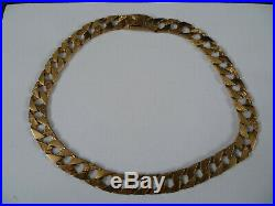 9ct gold Large, Heavy mens chain 130g in weight 23 in length