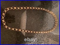 9ct gold Vintage belcher pattern Chain 33 Inches RRP £7500