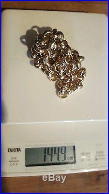 9ct gold belcher chain