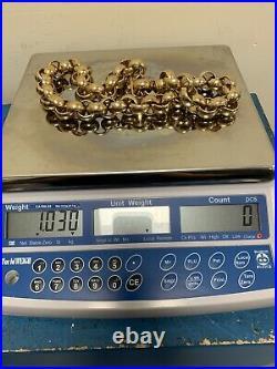 9ct gold belcher chain. 1.03 Kg. 28 Long. Call 07487 437332